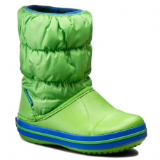 CROCS Hótaposó CROCS - Winter Puff Boot Kids 14613 Lime Green/Sea Blue