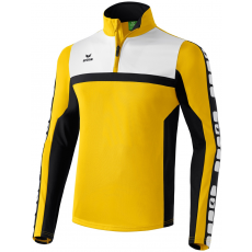 Erima 5-CUBES Training Top sárga/fekete/fehér zippes felső