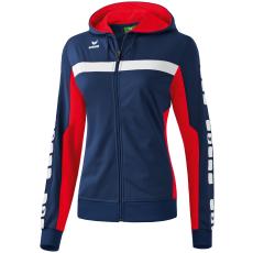 Erima 5-CUBES Training Jacket with Hood sötétkék/piros zippes felső
