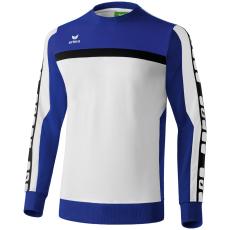 Erima 5-CUBES Sweatshirt fehér/kék pulóver