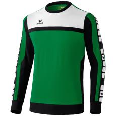 Erima 5-CUBES Sweatshirt zöld/fekete/fehér pulóver