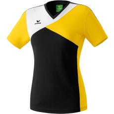 Erima Premium One T-shirt fekete/sárga/fehér poló