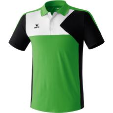Erima Premium One Polo-shirt zöld/fekete/fehér galléros poló