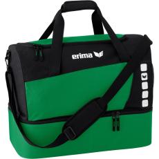Erima Sports Bag with Bottom Compartment sötét zöld/fekete táska