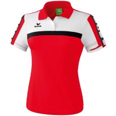 Erima 5-CUBES Polo-Shirt piros/fehér/fekete galléros poló