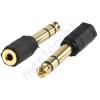 Kőnig-HQ 6.35mm-es stereo dugó - 3.5mm-es stereo aljzat átalakító AC-007GOLD