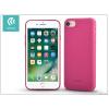 Devia Apple iPhone 7 szilikon hátlap - Devia Jelly Slim Leather 2 - pink
