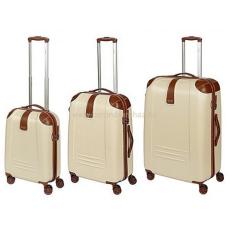 DIELLE bézs négykerekű bőröndszett-3db 155-Szett