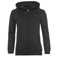 LA Gear Női kapucnis cipzáras pulóver fekete L
