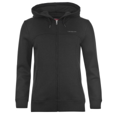 LA Gear Női kapucnis cipzáras pulóver fekete XXS