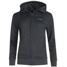 LA Gear Női kapucnis cipzáras pulóver sötétszürke 4XL