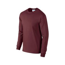 GILDAN hosszú ujjú környakas póló, maroon