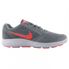 Nike Revolution 3 női sportcipő, Wolf Grey/Orange, 40 (819303-002-8.5)