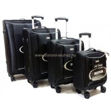 TOUAREG 4 tagú fekete négykerekű bőröndszett 14N011