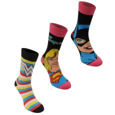 DC Comics Crew Sock 3 darabos női zokni piros kockás 37-42
