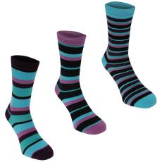 Kangol Formal 3 darabos női zokni lila csíkos 37-42