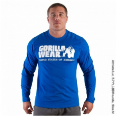RUBBER PRINTED LONG SLEEVE (ROYAL BLUE) [S]