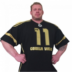 GW ATHLETE T-SHIRT DENNIS WOLF (BLACK/GOLD) [XXXXL]