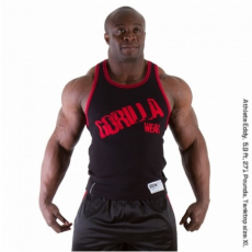 STAMINA  RIB TANK TOP (BLACK/TANGO RED) [XXXL]