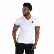 ESSENTIAL V-NECK T-SHIRT (WHITE) [XXXXL]