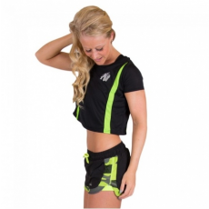 COLUMBIA CROP TOP (BLACK/NEON LIME) [M]
