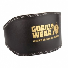 FULL LEATHER PADDED BELT (BLACK) [S/M]