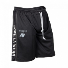 FUNCTIONAL MESH SHORTS (BLACK/WHITE) [2XL/3XL]