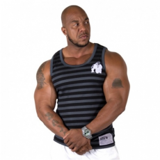 STRIPE STRETCH TANK TOP (BLACK) [L/XL]