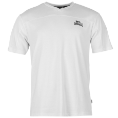 Lonsdale 2 Stripe férfi V nyakú póló fehér M