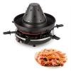 Klarstein Klarstein Taste Volcano tatárkalap, raclette grillező, 1500 W, 6 személy, fekete