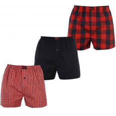 Lee Cooper Boxeralsó Lee Cooper 3 Pack Woven Boxers fér.