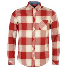 Kickers Flannel férfi hosszú pamut ing piros kockás XL