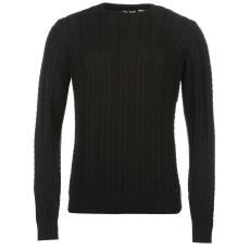Lee Cooper Cable férfi kötött pulóver fekete S