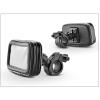 Univerzális kerékpárra/motorkerékpárra szerelhető, por- és cseppálló telefontartó - XXXL méret - fekete
