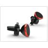 Univerzális szellőzőrácsba illeszthető mágneses PDA/GSM autós tartó - állítható fejjel - piros