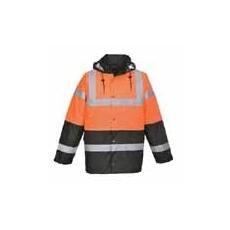 (S467)  Két tónusú kabát narancs
