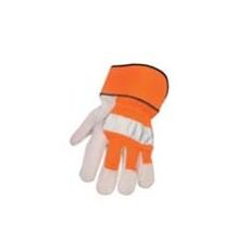 (A215) Hivis bőrkesztyű narancs