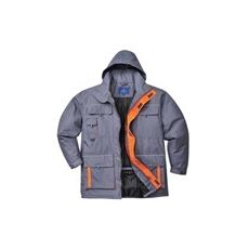 (TX30) Bélelt kabát szürke