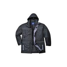 (TX30) Bélelt kabát fekete