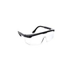 (PW33) Klasszikus védőszemüveg víztiszta fekete kerettel
