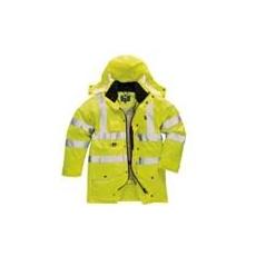 (S427) Jól láthatósági hét az egyben kabát sárga