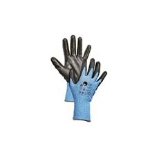 (Bonasia ) mártott védőkesztyű kék
