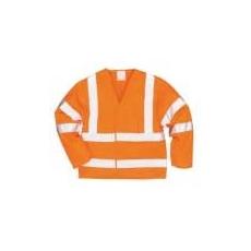 (C473) Jól láthatósági dzseki (ujjas mellény) narancs