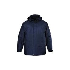 (S573) Angus bélelt kabát sötétkék