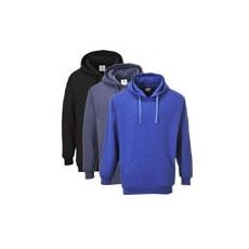 (B302) Róma kapucnis pulóver fekete