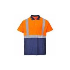 (S479) Két tónusú teniszpóló narancs/sötétkék