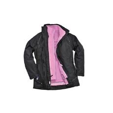 (S571) Elgin 3 az 1-ben kabát fekete