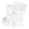 Klups 3 részes ágynemű - Macik csillaggal bézs-fehér