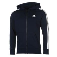 Adidas Essentials 3 Stripe Logo férfi kapucnis pulóver tengerészkék XL