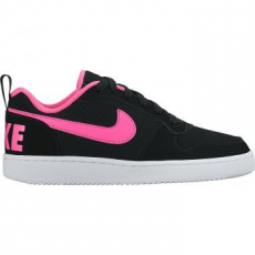 Nike Recreation Low gyerek sportcipő, Black/Pink Blast, 35.5 (845104-006-3.5y)